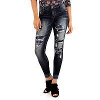 Juniors' Wallflower Ripped Skinny Jeans