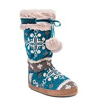 MUK LUKS Women's Chanelle Fringe Boot Slippers