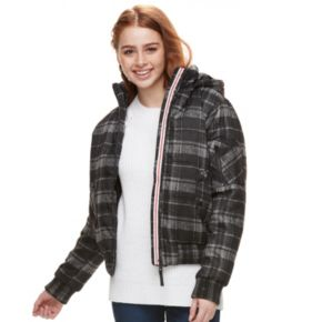Juniors' Urban Republic Hooded Puffer Bomber Jacket