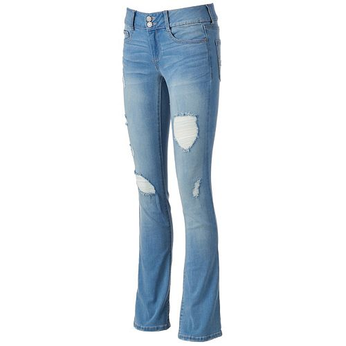 Juniors' Mudd® FLX Stretch Ripped Bootcut Jeans