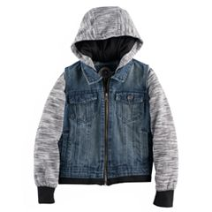 Toddler Boy Urban Republic Denim Vest Fleece Lightweight Jacket