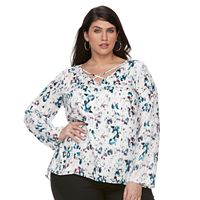 Plus Size Apt. 9® Cross Front Chiffon Top