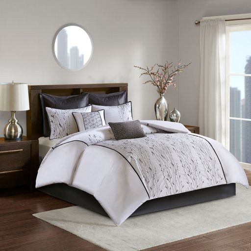 Madison Park Roux Embroidered Comforter Set