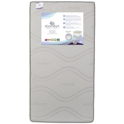 Serta iComfort Dawn Mist Firm Foam Crib & Toddler Mattress