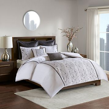 Madison Park Roux Embroidered Duvet Cover Set