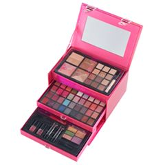 The Color Institute 66 pc Pink Case Defining Beauty Cosmetics Set