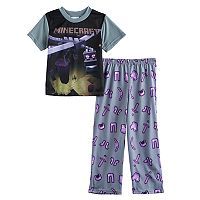 Boys 4-10 Minecraft Dragon 2-Piece Pajamas