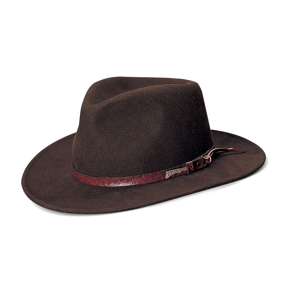 273be3eca49a3 Men s Indiana Jones All-Season Wool Felt Outback Hat