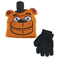 Boys 4-20 Five Nights At Freddy's Hat & Gloves Set