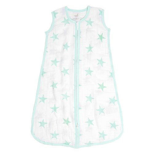 aden by aden + anais Green Stars Muslin Wearable Zip Blanket