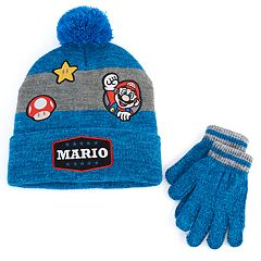 Boys 4-20 Super Mario Bros. Hat & Gloves Set
