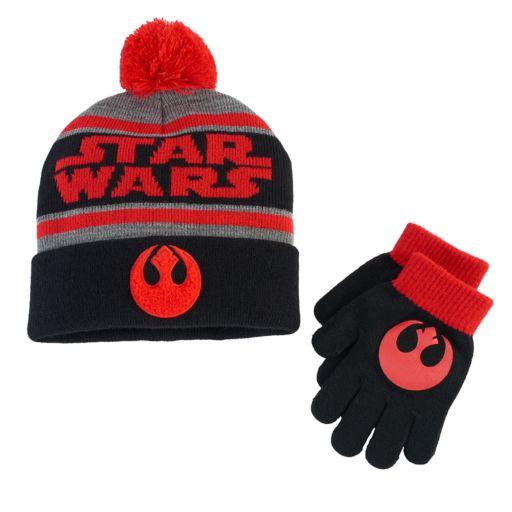 Boys Star Wars Hat & Gloves Set