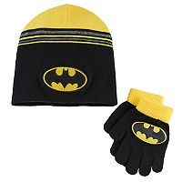 Boys DC Comics Batman Hat & Gloves Set