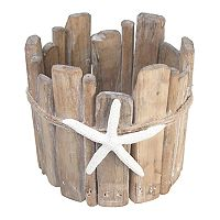 SONOMA Goods for Life™ Coastal Wood Candle Jar Holder
