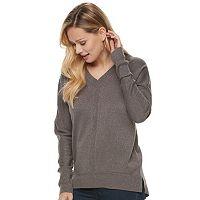 Women's Apt. 9® Metallic Ribbed Dolman Sweater