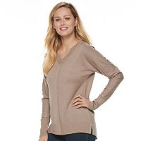 Women's Apt. 9® Metallic Ribbed Dolman Sweater