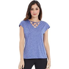 Women's Marika Cross Over Short Sleeve Tee