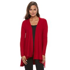 Women's Dana Buchman Open-Front Ribbed Cardigan