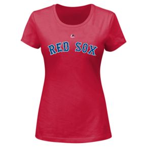 Plus Size Majestic Boston Red Sox Mookie Betts Player Name and Number Tee