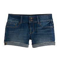 Girls 7-16 & Plus Size Mudd® Denim Shortie Shorts