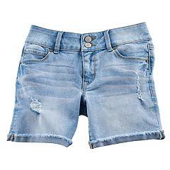 Girls 7-16 & Plus Size Mudd® Denim Midi Shorts