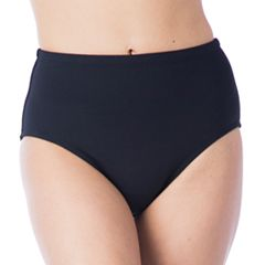 Women's Chaps High-Waisted Scoop Bikini Bottoms