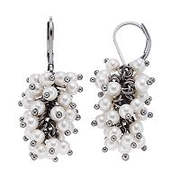 Simply Vera Vera Wang Simulated Pearl Cluster Nickel Free Drop Earrings