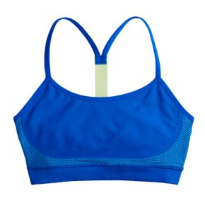 Girls Maidenform Colorblock Seamless Sports Bra
