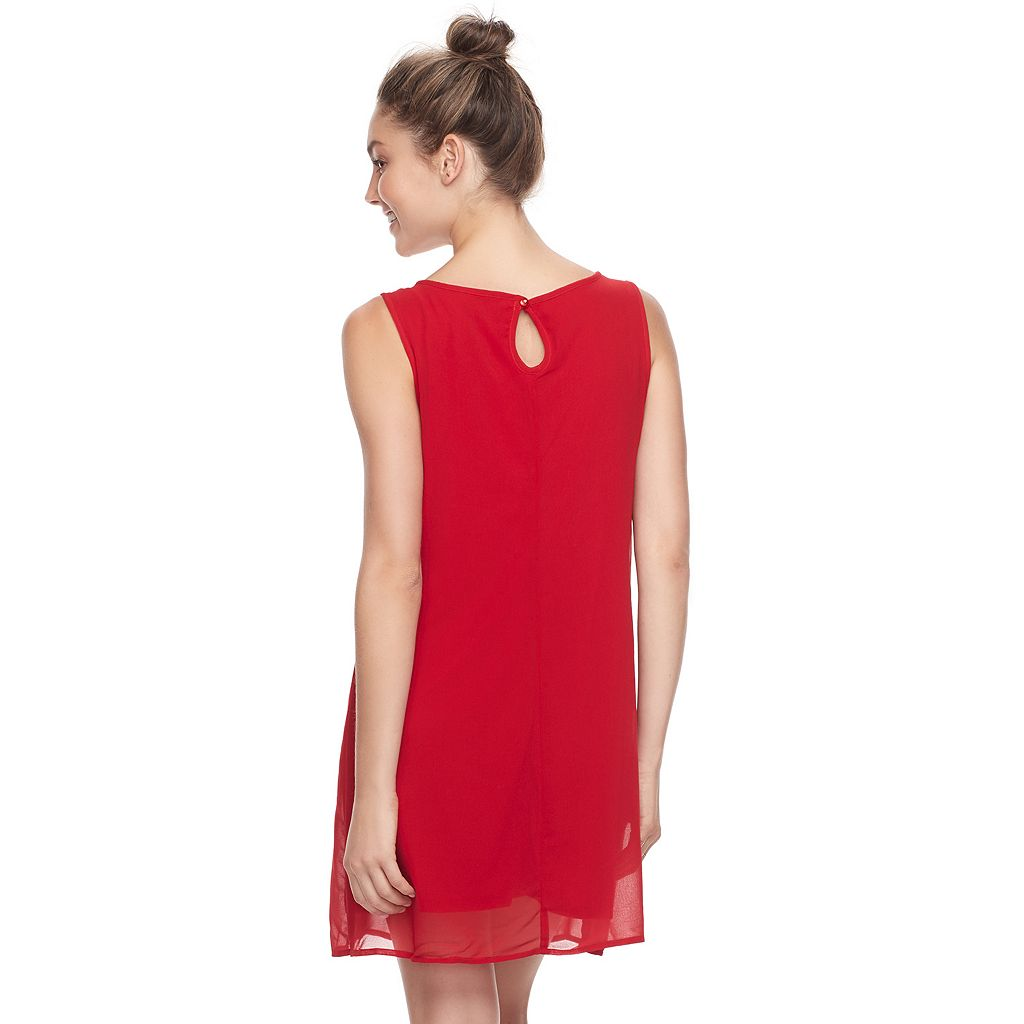 Juniors' Lily Rose Necklace Shift Dress