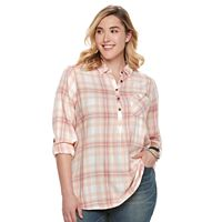Plus Size SONOMA Goods for Life™ Roll-Tab Shirt