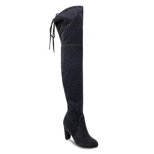 Olivia Miller Mastic Women's High Heel Thigh High Boots