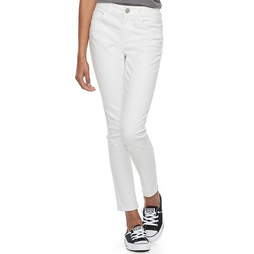 Juniors' SO® White Low Rise Jeggings