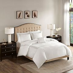 Madison Park Signature Luxury Collection 1000 Thread Count Embroidered 4 pc Duvet Cover Set