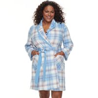 Plus Size Jockey Microfleece Long Sleeve Robe