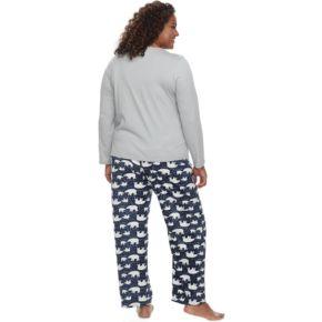 Plus Size Jockey Pajamas: Microfleece 2-Piece PJ Set