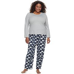 Plus Size Jockey Pajamas: Microfleece 2 pc PJ Set