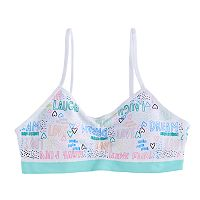 Girls 7-16 Maidenform Fun Words Seamless Crop Bra