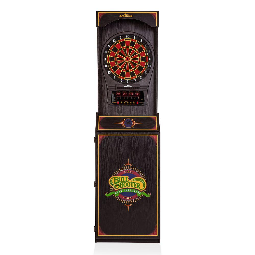 Unicorn Arachnid Arcade Standup Cabinet with Cricket Pro 650 Dartboard & Darts Set