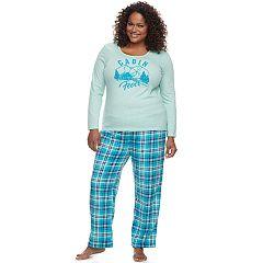 Plus Size Be Yourself 2 pc Fleece Pajama Set