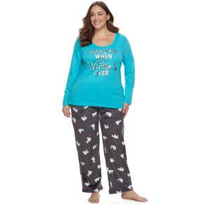 Plus Size Be Yourself 2-pc. Fleece Pajama Set