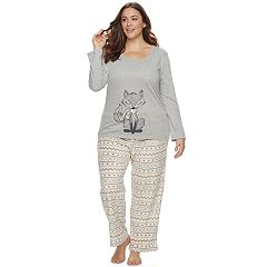 Plus Size Be Yourself 2 pc Fleece Pajama Set