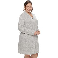 Plus Size SONOMA Goods for Life™ Pajamas: Notch Collar Button-Down Sleep Shirt