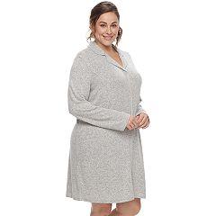 Plus Size SONOMA Goods for Life™ Pajamas: Notch Collar Button-Down Sleep Shirt
