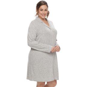 Plus Size SONOMA Goods for Life? Pajamas: Notch Collar Button-Down Sleep Shirt