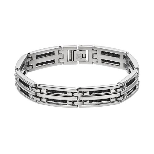 1913 Men's Stainless Steel Cable Bracelet