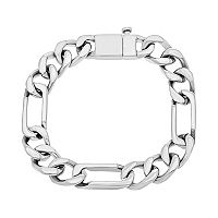1913 Men's Stainless Steel Figaro Bracelet