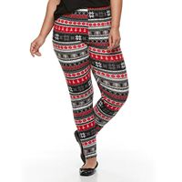 Plus Size French Laundry Winter Printed Legging
