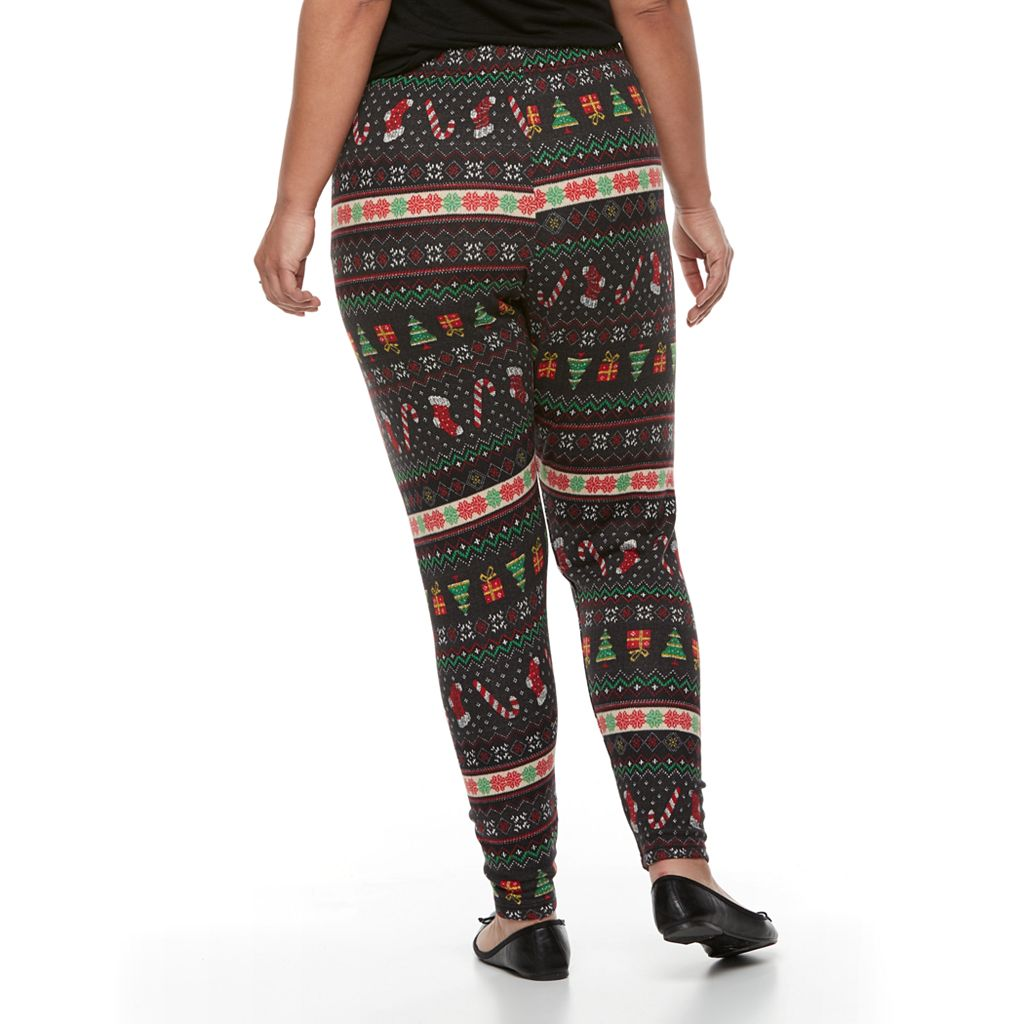 Plus Size French Laundry Christmas Printed Legging