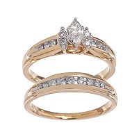 Lovemark Marquise-Cut Diamond Engagement Ring Set in 14k Gold (1/2 ctT.W.)