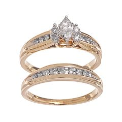 ae5615342f Lovemark Marquise-Cut Diamond Engagement Ring Set in 14k Gold (1/2 ct